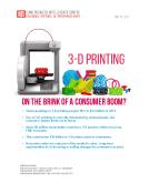 FBIC Global Retail Tech Report on 3D Printing