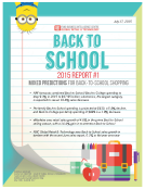Back-To-School 2015 Report 1 Mixed Predictions by FBIC Global Retail Tech