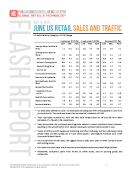 June US Retail Sales and Traffic by FBIC Global Retail and Tech