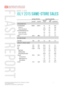 July 2015 Same-Store Sales Report by FBIC Global Retail Tech