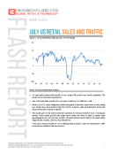 July 2015 US Retail Sales and Traffic Report by FBIC Global Retail Tech