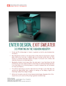 Quick Take on 3D Garment Printing by FBIC Global Retail Tech 8_12_15