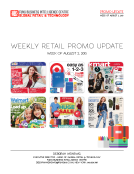 Weekly Promo Update by FBIC Global Retail Tech for the Week of August 2, 2015