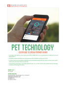 Pet Tech Report by FBIC Global Retail Tech Dec 2015