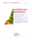 US Holiday 2015 Macro Update By FBIC Global Retail Tech
