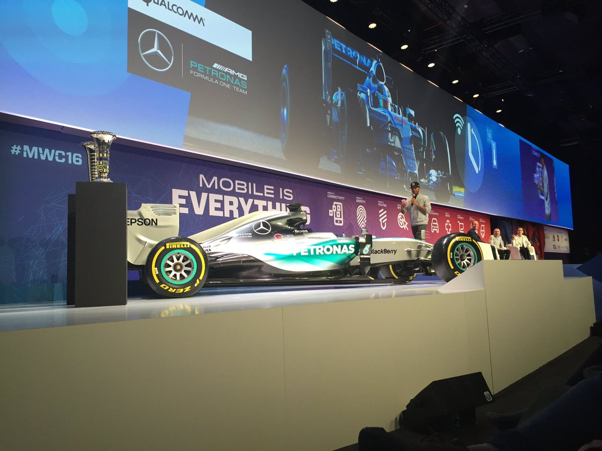 Lewis Hamilton at Mobile World Congress 2016