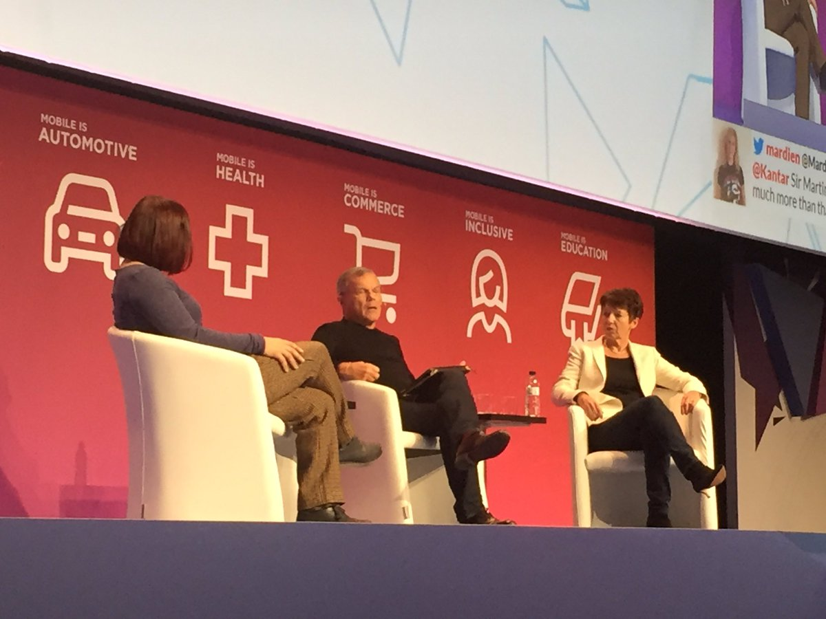 "Martin Sorrell: ""One of my biggest fears about mobile and the Internet is displacement of employment."" #MWC16"