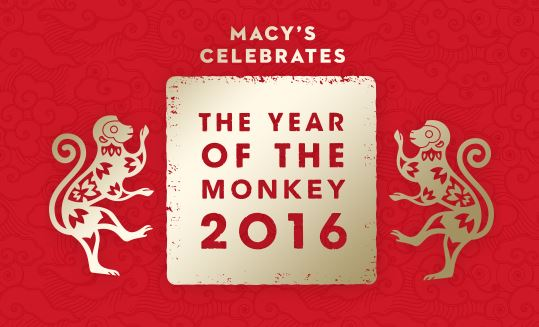 macys celebrates the year of the monkey