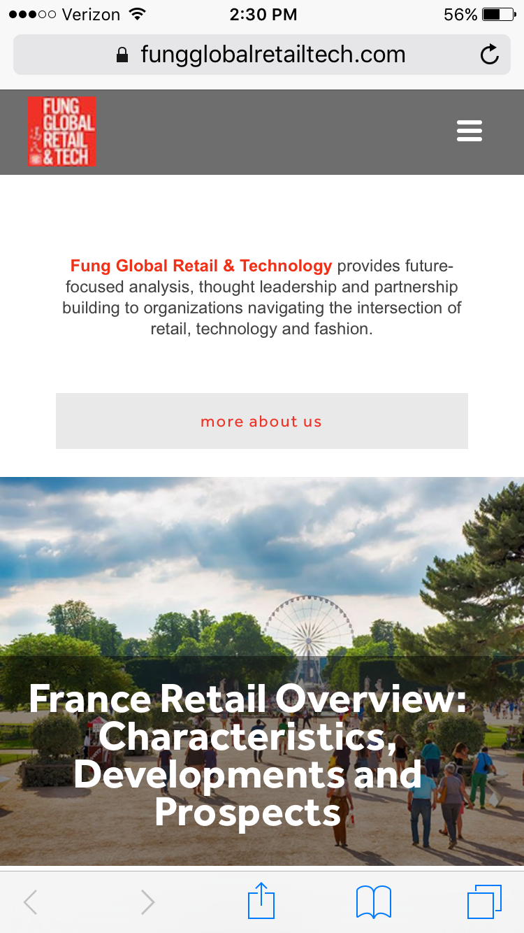 Mobile view of the new FungGlobalRetailTech.com