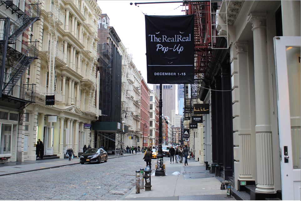 online luxury consignment shop the realreal opens pop up in soho