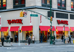 TJ Maxx store front in Manhattan.