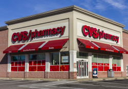 Anderson, US - November 17, 2016: CVS Pharmacy Retail Location.